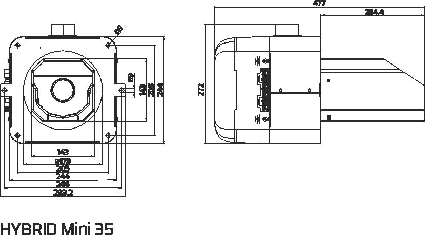 dimensions hybride mini 35