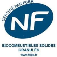 NF certification française des biocombustibles solides