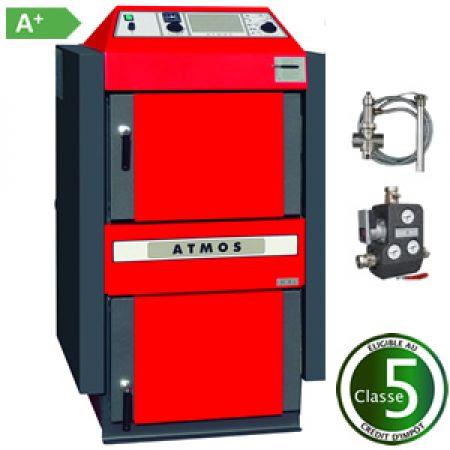 Chaudière bois à gazéification Atmos DC 32 S et accessoires-classe-5-energetique-A+