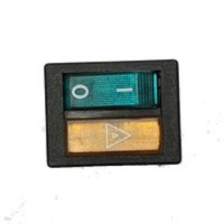 Interrupteur vert avec voyant orange pour chaudière Green Eco Therm