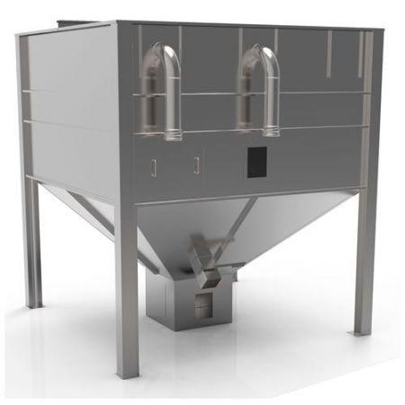 Silo métallique capacité 3 tonnes pour stockage des Pellets à l'intérieur ou à l'extérieur